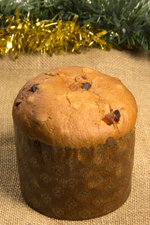 typical: Panettone, typical Christmas dessert Stock Photo