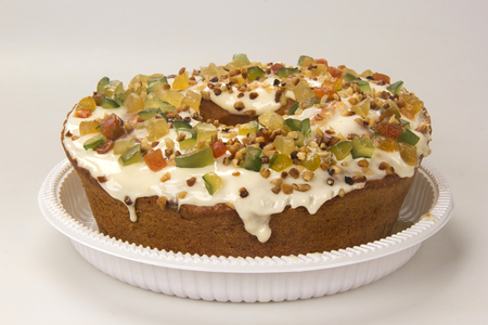 Paschal fruit cake. Candied fruit cake, typical at Easter