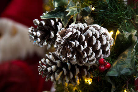 Christmas scene with gifts and tree objects. Christmas decoration