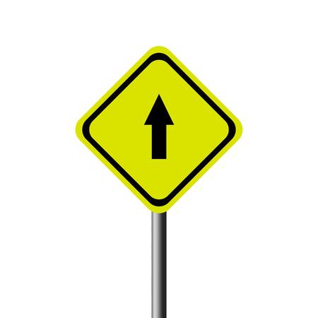 slow lane: yellow road signs