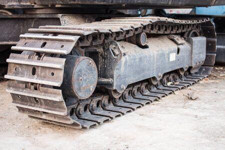 crawler: The Crawler Mini excavators.dng Stock Photo