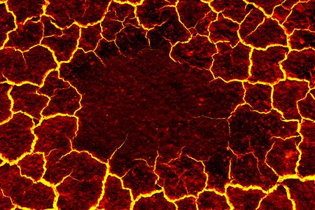 마그마 배경, 배경에 대한 붉은 균열 astage