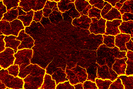 fond de magma, le crack rouge astage pour le fond