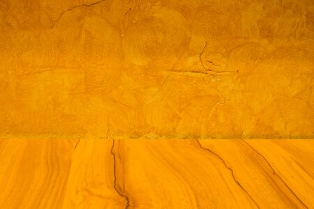 The wood and wall texture for background Stock Photo