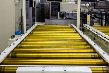 The conveyor in auto machine in manufacturing. Stock Photo