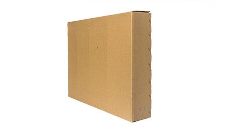 Brown box with isolate Stock Photo