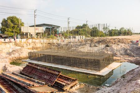 The deformed bars steel bar to build a bridge