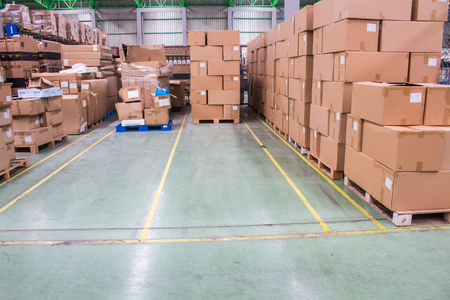 The Yellow Line breaks of empty space for keep material boxes or product boxes in warehouse area.