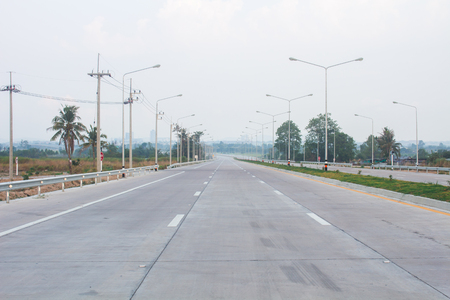 The project new road construction from Motorway No.7 to Laem Chabang Port, Thailand