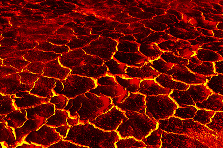 The surface of the lava, The red crack stage for background