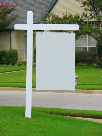 Real Estate Blank Yard Sign photo