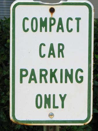 Compact Car Parking Sign Stock Photo - 1666135