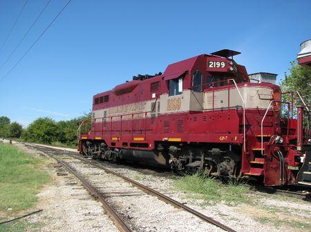 steam rally: Vintage Rail Road Train Engine