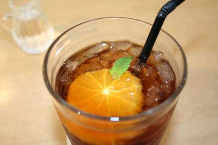 flavoured: Orange flavoured tea Stock Photo