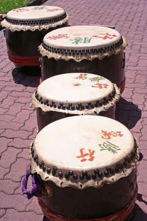 Chinese new year drums photo