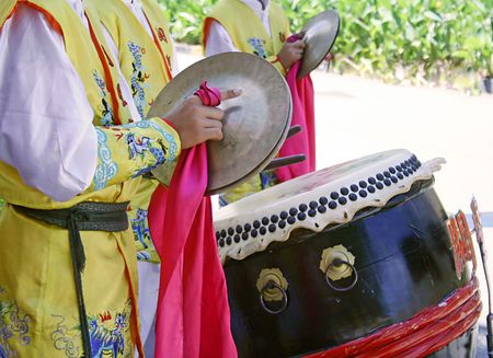 Chinese new year drummers photo