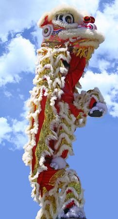 lion dance: Chinese new year lion Stock Photo