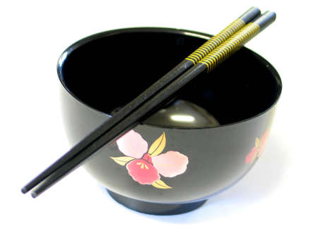 hashi: Japanese soup bowl Stock Photo