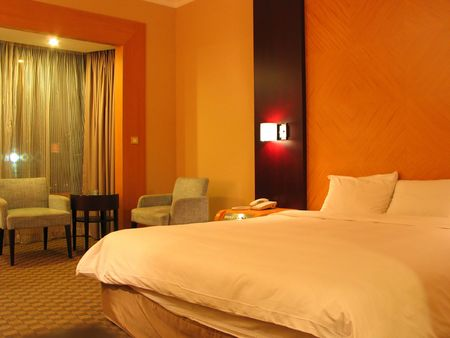 a hotel bedroom Stock Photo - 355500