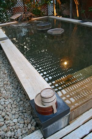 Japanese Onsen bath photo
