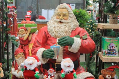 christmas carols: Father Christmas Stock Photo