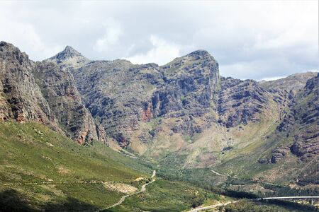 Beautiful Rocky mountain on a clear sunny day in the Cape Province