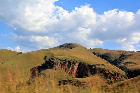 Grass covered mountain in Mpumalanga near Pilgrims