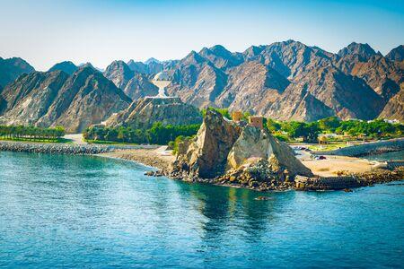 Mountain landscape of Muscat, Oman.
