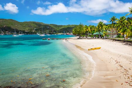 Beautiful beach of Bequia, St Vincent and the Grenadines.