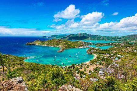 Antigua and Barbuda Island landscape, Caribbean. Stock Photo
