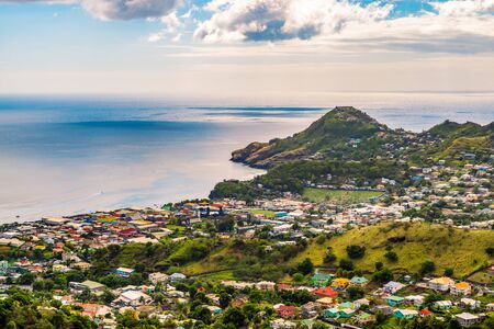 Saint Vincent and the Grenadines. Landscape and port city of Kingstown.