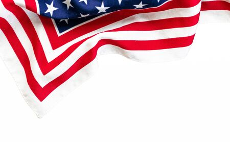 American flag pattern isolated on white background. Foto de archivo