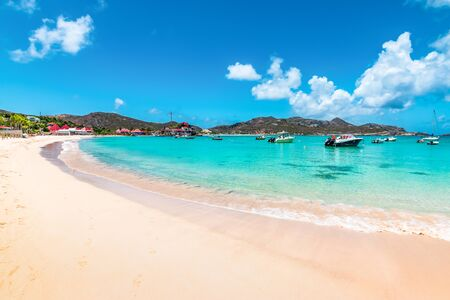 Beautiful beach, St Barths, Caribbean Фото со стока