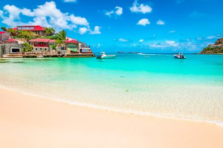 Beach in St Barts, Caribbean Sea.
