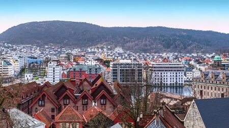 Cityscape of Bergen, Norway, Scandinavia