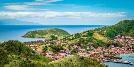 Panoramic landscape view of Terre-de-Haut, Guadeloupe, Les Saintes, Caribbean Sea.