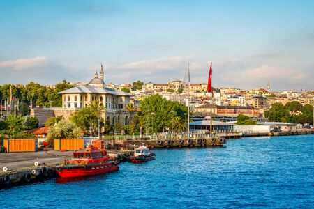 View of Port of Istanbul, Turkey
