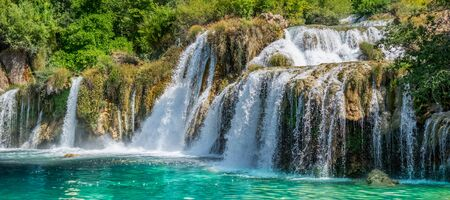 Croatia falls, Buk waterfall, Krka National Park.