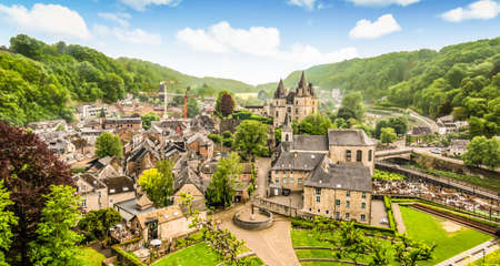 Panoramic landscape of Durbuy, Belgium. Smallest city in the world. Фото со стока - 150894355