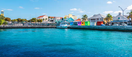 Panoramic view of port of Nassau, Bahamas. Фото со стока - 152020585