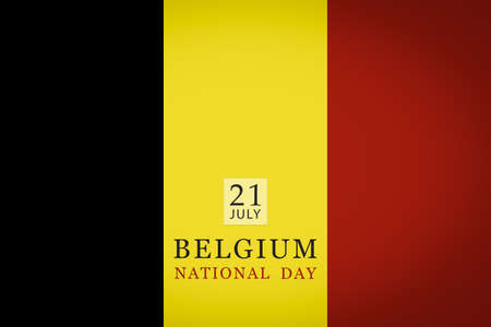 Belgium National day 21 July flag background.