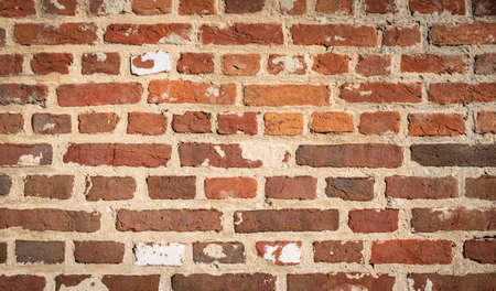 Old brick wall background. Red brown bricks.