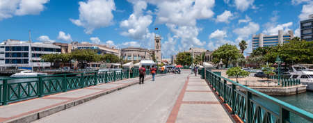 Bridgetown, Barbados. City center with bridge street and parliament building.