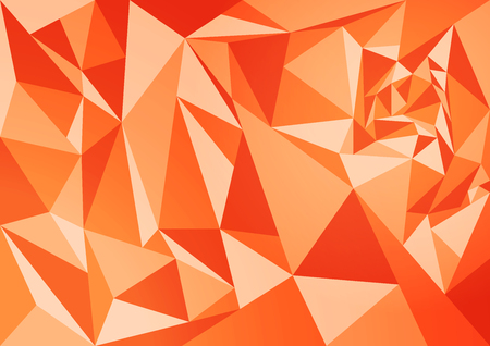 abstract polygon orange background, retro and vintage wallpaper concept.