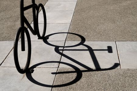 projection: Bicycle shadow projection Stock Photo
