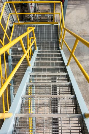 petrochemical plant: Stair in petrochemical plant