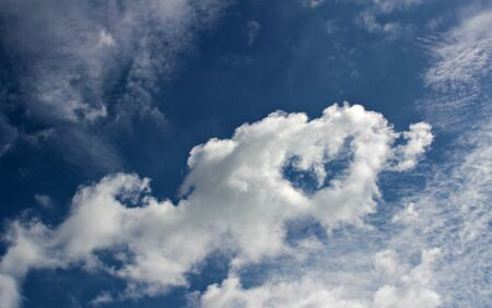 Heart-shaped cloud photo