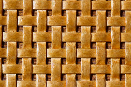 meshwork: close - up of a wicker  pattern Stock Photo