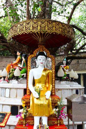 praye: buddha statue in Wat Phrathat Doi Suthep in Chiang Mai,