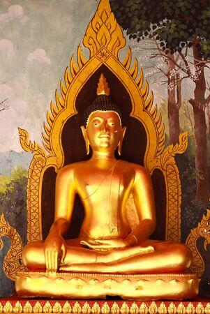 praye: buddha statue in Wat Phrathat Doi Suthep